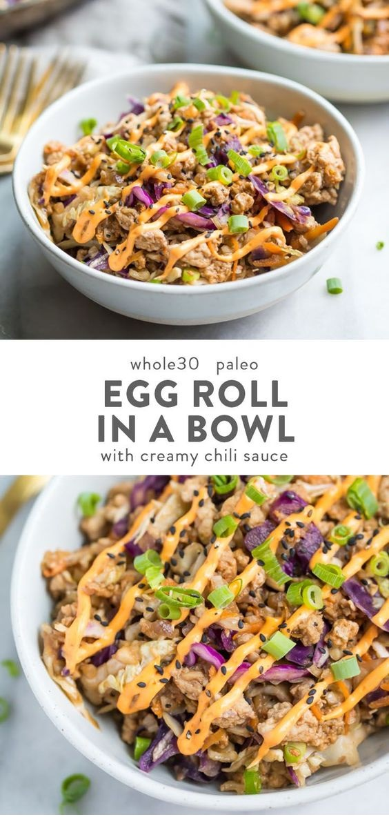 Egg Roll In A Bowl (Whole30, Keto, Paleo, Low Carb)