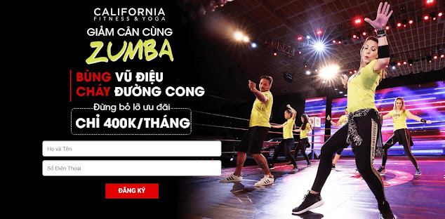 Khóa học Zumba giảm cân siêu tốc an toàn cùng vũ công người Colombia tại California Gym & Yoga