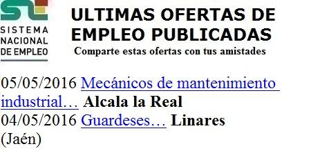 Linares, Alcalá la Real, Jaén. Lanzadera de Empleo Vitual. Sistema de Empleo Nacional