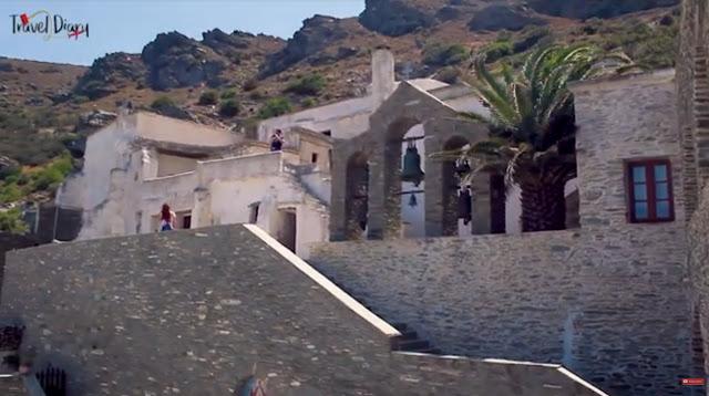 Μονή Παναχράντου: Το εντυπωσιακό βυζαντινό μοναστήρι της Άνδρου (βίντεο)