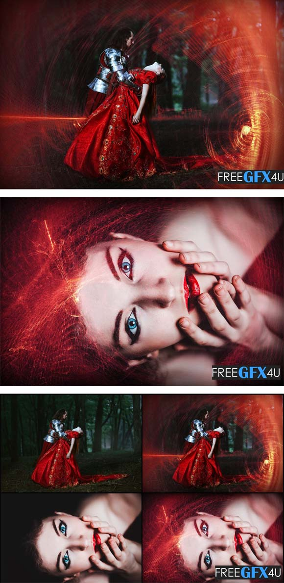 50 Mystical Red Light Photo Overlays Free Download