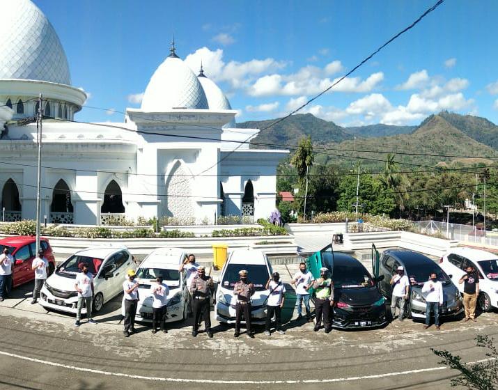 Gandeng Komunitas Otomotif JLC, Satlantas Polres Soppeng Kampanyekan AKB