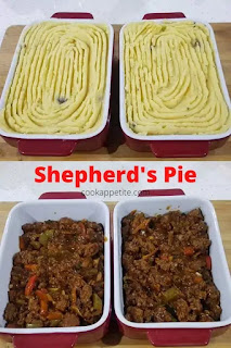 The original Shepherd's pie is made with lamb, but my family and I are more of beef enthusiasts than lamb fanciers so we make our cottage pie with ground beef ( minced beef)
