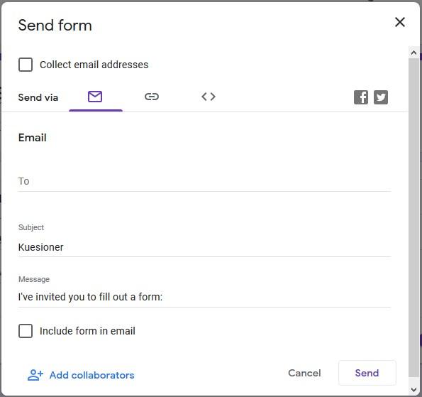 mengirim dan mendistribusikan link