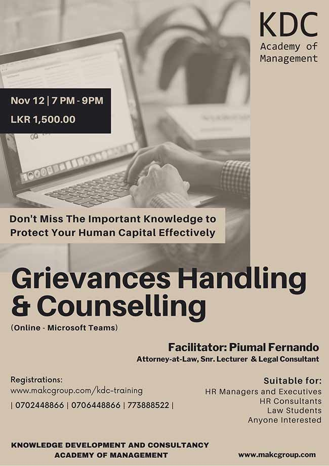 Grievances Handling and Counseling