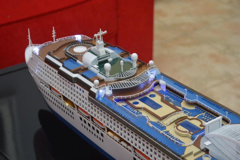 tempat jual miniatur kapal pesiar sun princess cruises ship pacific world harga murah