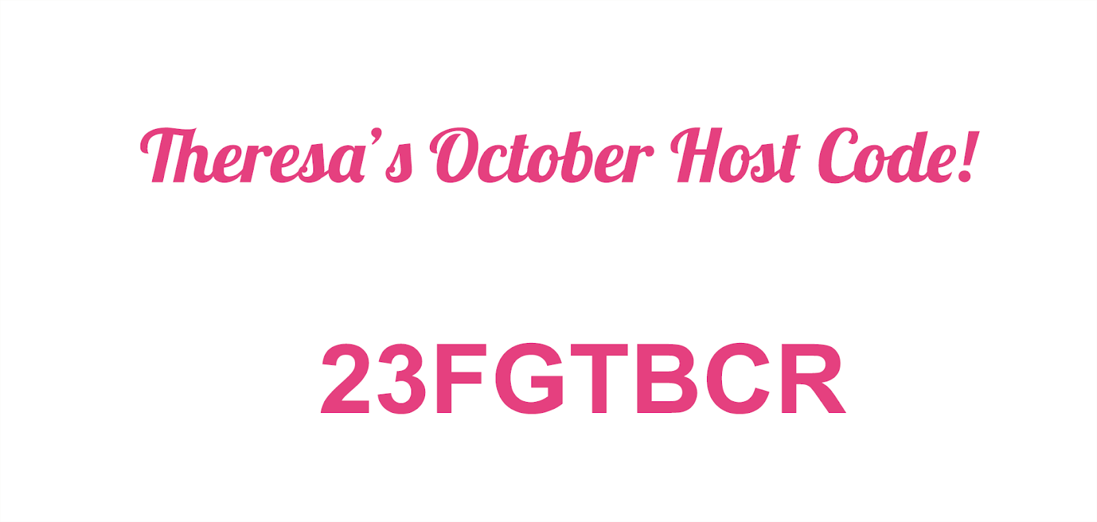 This Month's Host Code