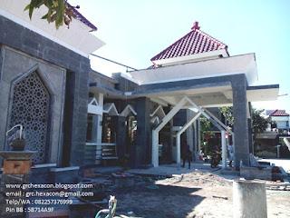 panel GRC krawangan masjid Ar Roudhoh