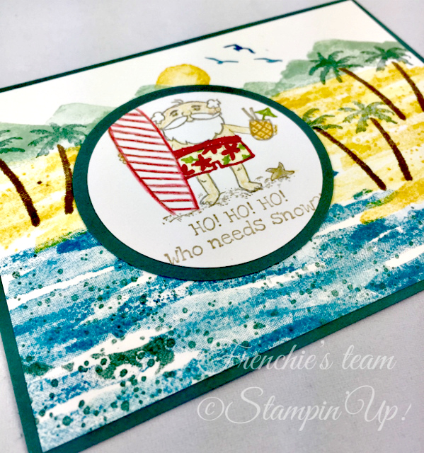 Card, So Santa, Beach Santa, Christmas, Waterfront