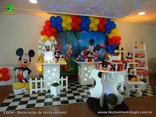 Decoração de aniversário do Mickey
