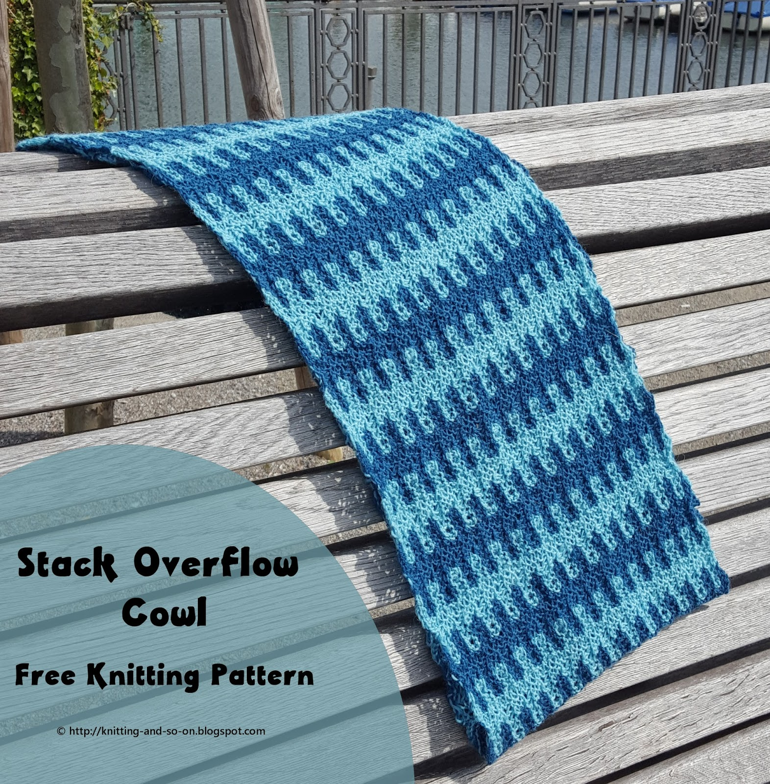 Knitting and so on: Stack Overflow Cowl