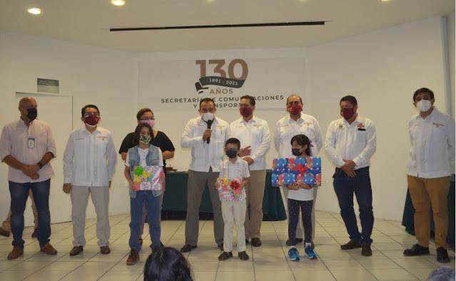 El Centro SCT Yucatán conmemora el 130 aniversario de la SCT