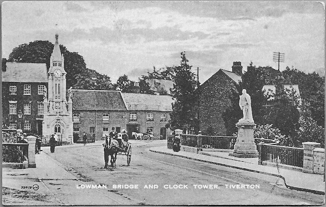 Postcard of Lowman Bridge and the Clock Tower c.1900