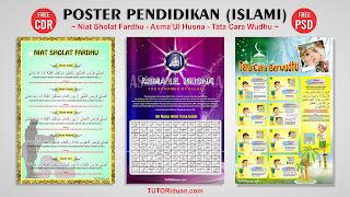 Desain Poster Pendidikan Islami Free PSD
