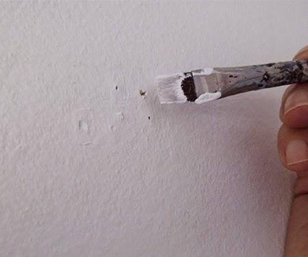 Pintar parede, tapar buraco, tapar furo, tapar buraco na parede, tapar furo na parede