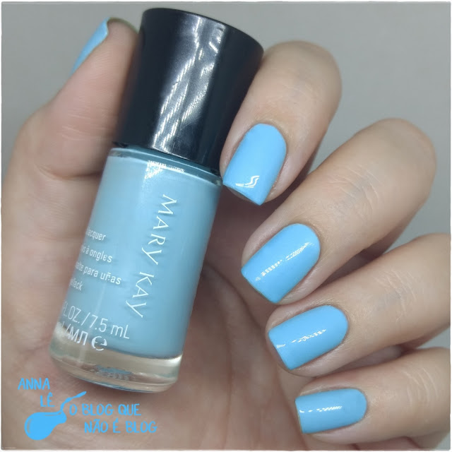Blue Lotus Mary Kay Esmalte Nailpolish Pastel Azul Claro
