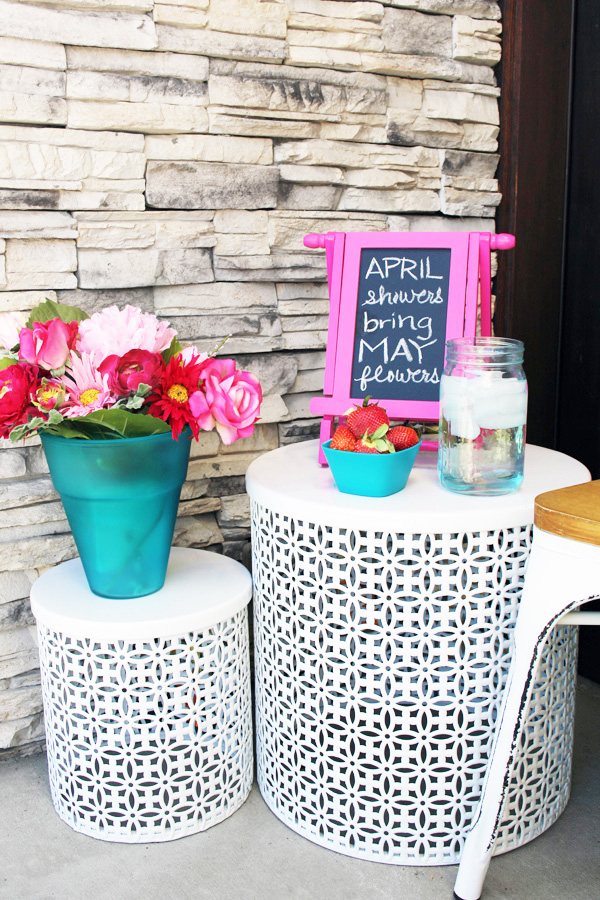 Spring Porch Decor Plant Stands