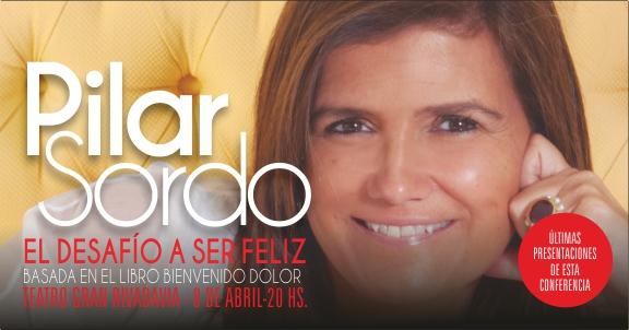 """Pilar Sordo presenta """"El desafio a ser feliz"""" en el Teatro Gran Rivadavia"""