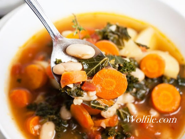Healthy Harvest Vegetable Soup Recipe #Healthy #Vegetable #Soup
