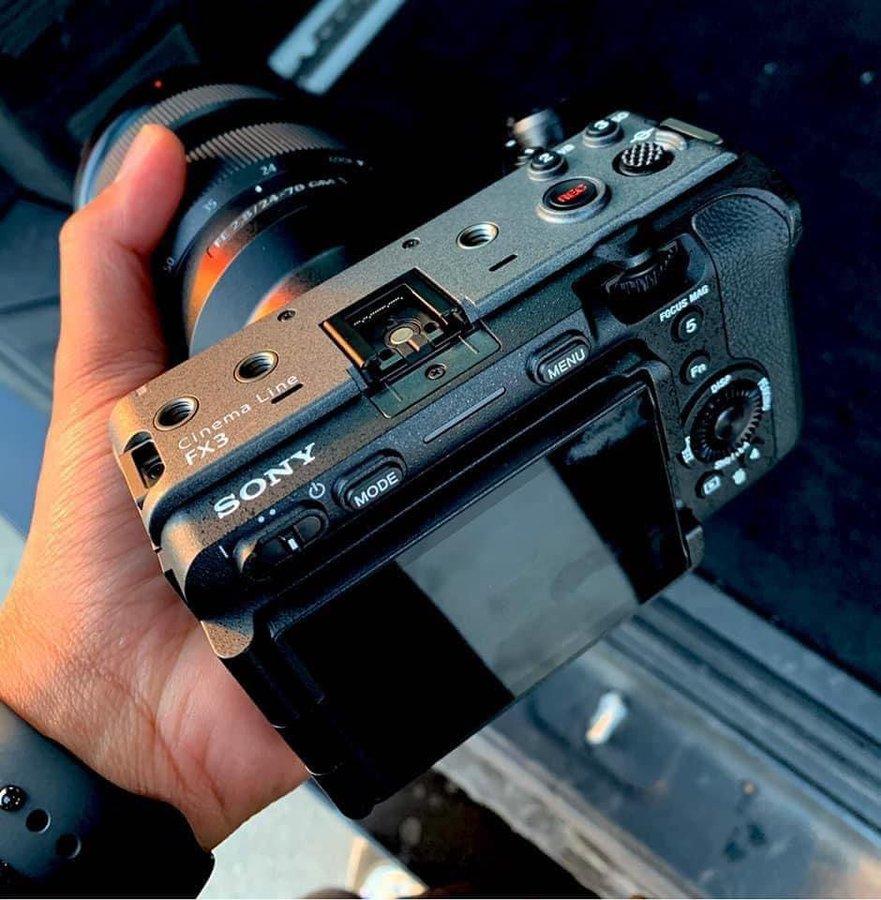 Sony FX3, вид сзади
