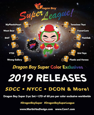 Dragon Boy Super League Vinyl Figure Set by Martin Hsu