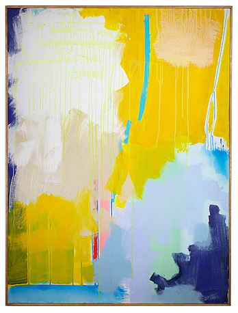 Kelly Prinn art titled Yellow Interrupted