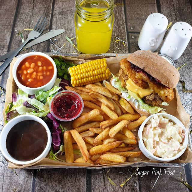 KFC Style Festive Burger   Slimming Friendly Fakeaway Recipe