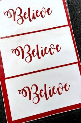 Vinyl Believe for Christmas ornaments . Homeroad.net