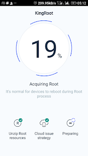Kingroot acquiring root 19%