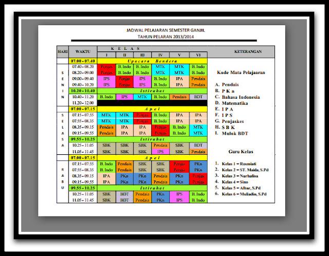Unduh Aplikasi Jadwal Pelajaran Terbaru Full Color