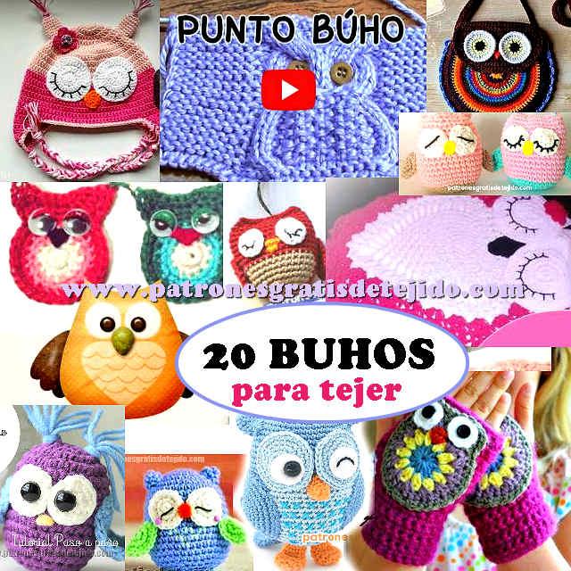 20 Patrones y Tutoriales de BUHOS para tejer / Colección | Crochet y ...