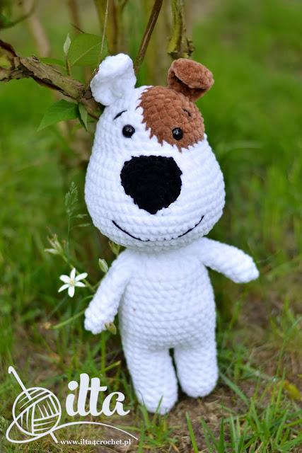 amigurumi pies dog crochet szydełko