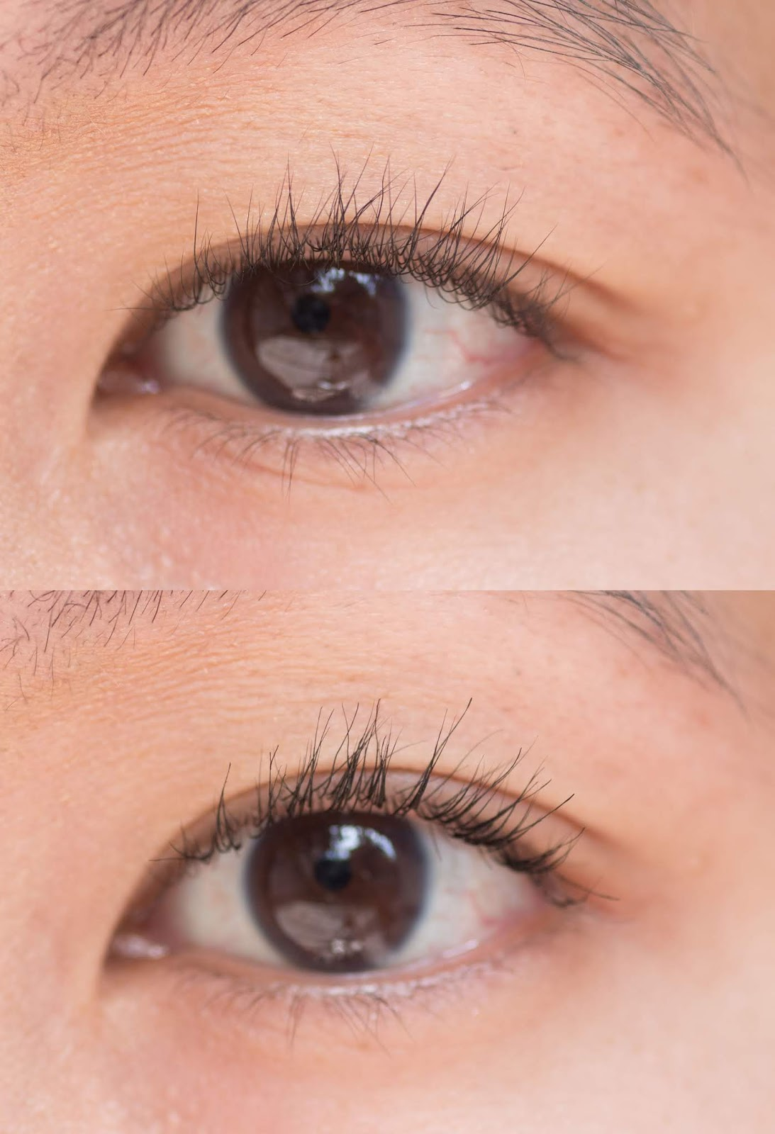 Glossier Lash Slick Mascara Before and After