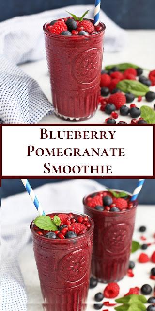Blueberry Pomegranate Smoothie #feshjuice #desserts #smoothie