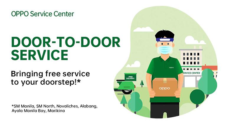 OPPO door-to-door service brings after-sales service to your home