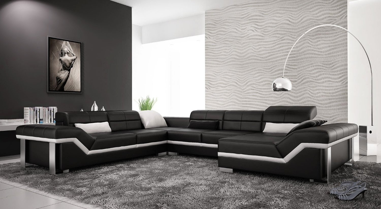 contemporary black modern couches size of living roomvancouver