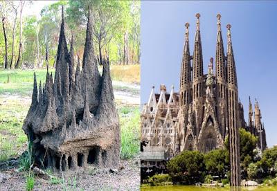 Porównanie konstrukcji temitiery i katedry Sagrada Família