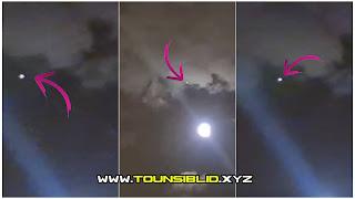 ( بالفيديو )ظهور جسم غريب مشتعل في سماء سكرة قرب مغازة كارفور ليلة البارحة