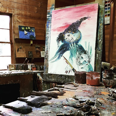 Interior of Arhtur Boyd's studio at Bundanon Trust.