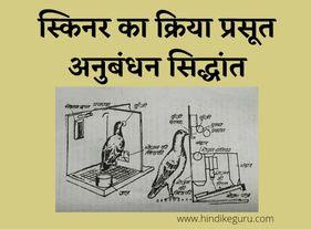 स्किनर का क्रिया प्रसूत अनुबंधन सिद्धांत skinner operant conditioning theory in hindi