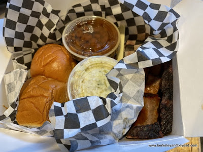 two way combo at KC's BBQ in Berkeley, California