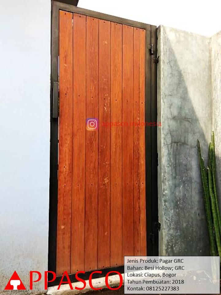 Pagar GRC Klasik Kayu Minimalis di Ciapus Bogor