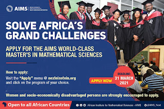 AIMS Master's Degree Program in Mathematical Sciences 2021