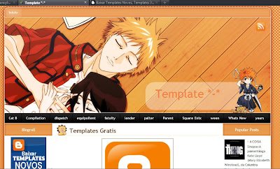 Template Bleach para Blogger