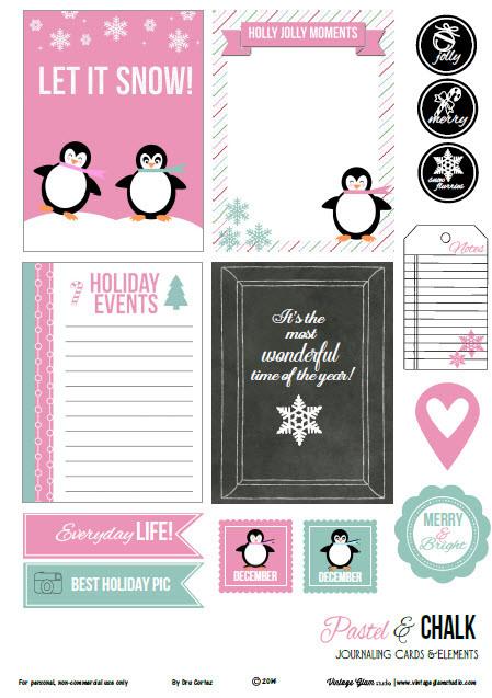 penguin christmas planner printables