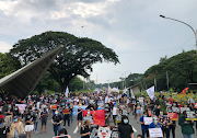 Activist groups held rally in UP Diliman to denounce Anti-Terrorism Act