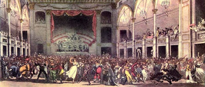 Masquerade at the Pantheon (cropped) from The Microcosm of London Vol 2 (1808-10)