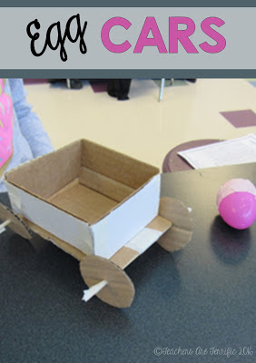 STEM Challenge- prove one of Newton's Laws with Egg Cars!