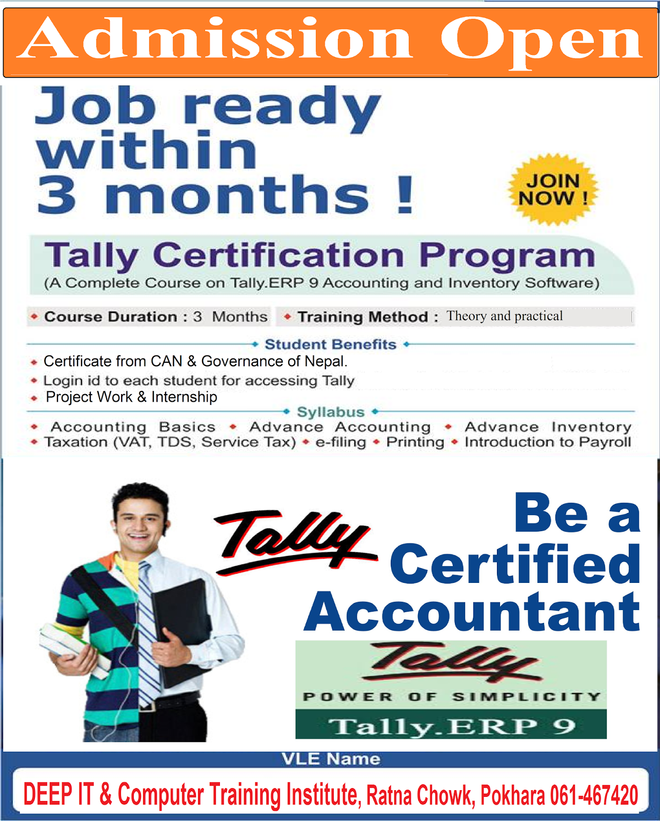 Admission Open Tally Certification Program Deep Training Institute