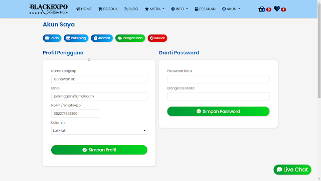 Aplikasi Web Toko Online Professional 2